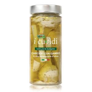 La Cupa prodotti agricoli tipici salentini carciofi con gambo vaso 300 gr