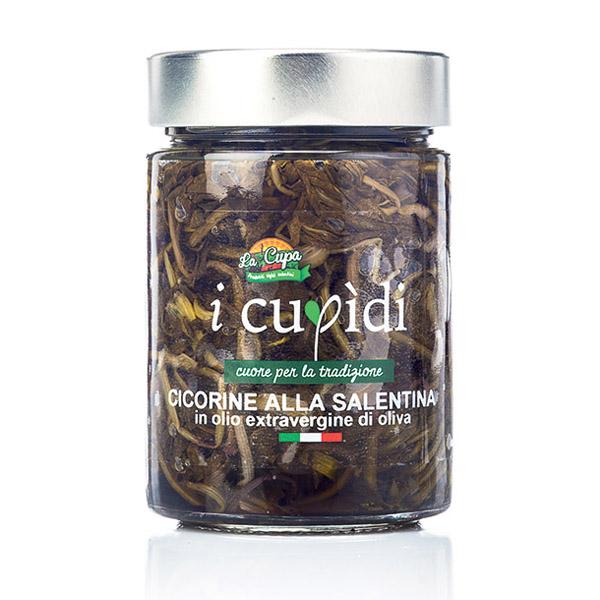 La Cupa prodotti agricoli tipici salentini cicorine alla salentina vaso 300 gr