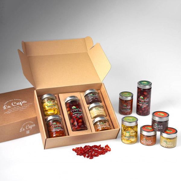 La Cupa prodotti agricoli tipici salentini cofanetto gusto in tavola