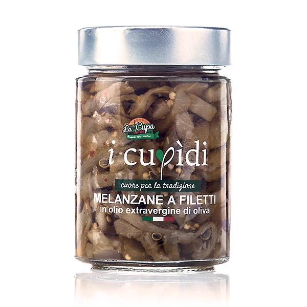 La Cupa prodotti agricoli tipici salentini melanzane a filetti in vaso 300 gr
