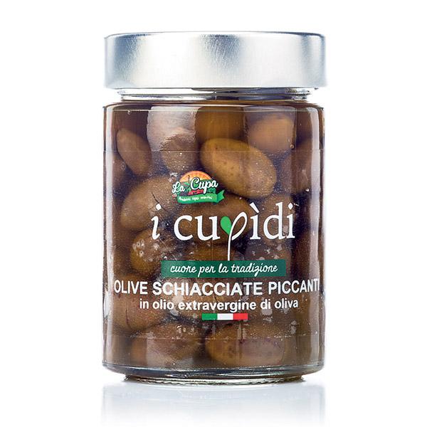 La Cupa prodotti agricoli tipici salentini olive schiacciate piccanti in vaso 300 gr