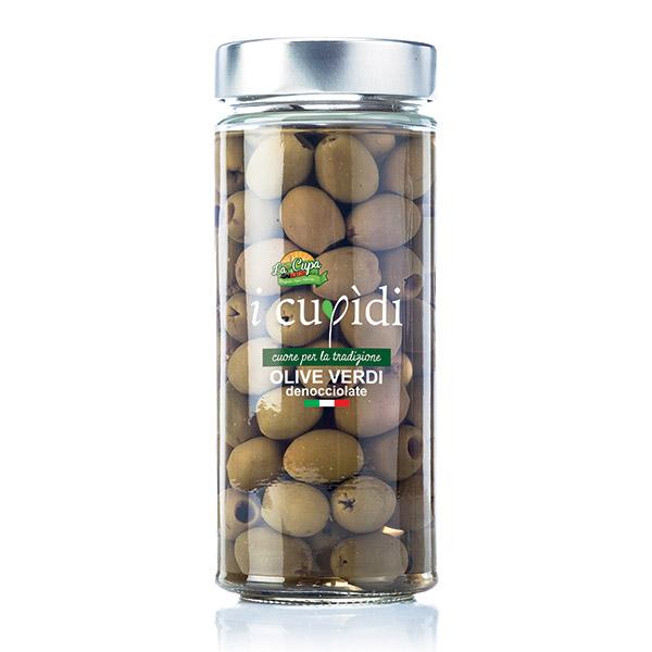 La Cupa prodotti agricoli tipici salentini olive verdi denocciolate in vaso 270 gr