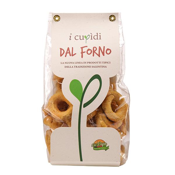 La Cupa prodotti agricoli tipici salentini tarallini alla crema di carciofi in busta 250 gr