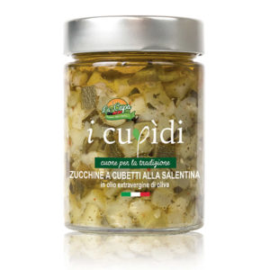 La Cupa prodotti agricoli tipici salentini zucchine cubetti vaso 300 gr
