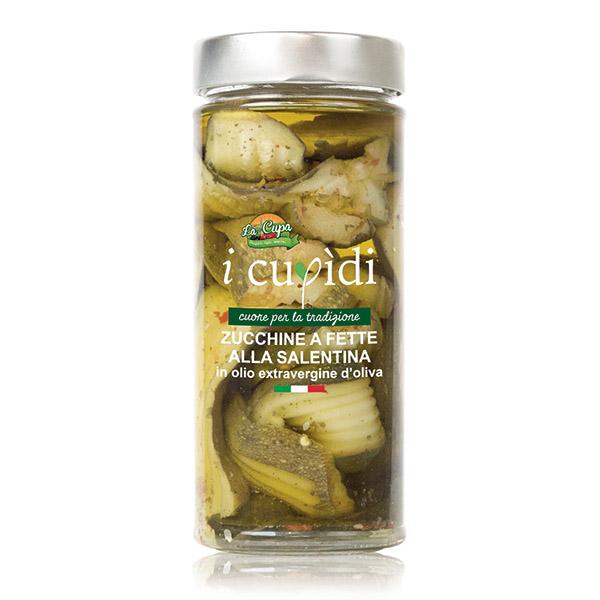 La Cupa prodotti agricoli tipici salentini zucchine a fette vaso 300 gr